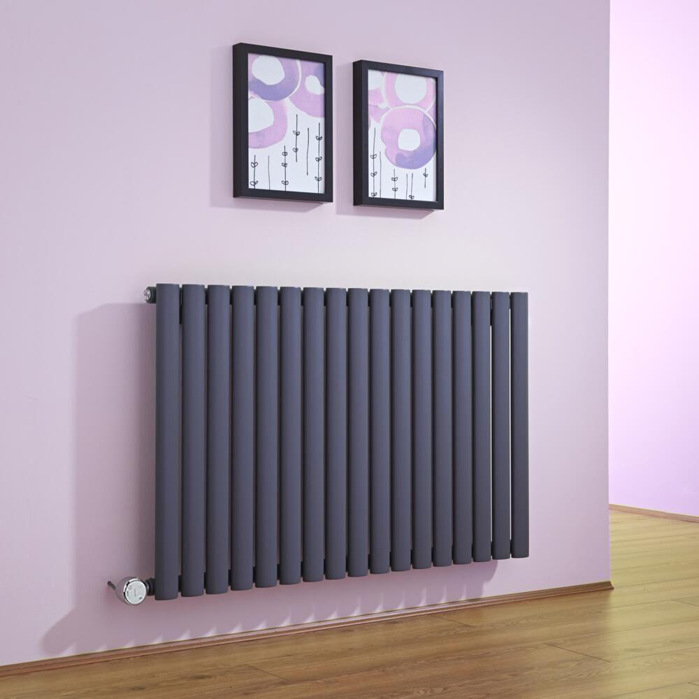 radiateur design lectrique horizontal anthracite vitality 63 5cm x 100cm x 5 5cm. Black Bedroom Furniture Sets. Home Design Ideas