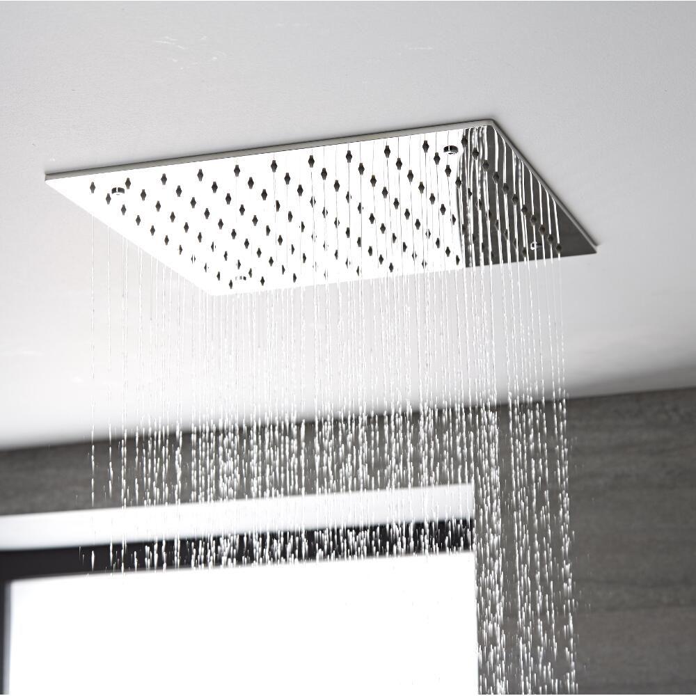 pommeau de douche encastrable plafond 40x40cm tatham. Black Bedroom Furniture Sets. Home Design Ideas