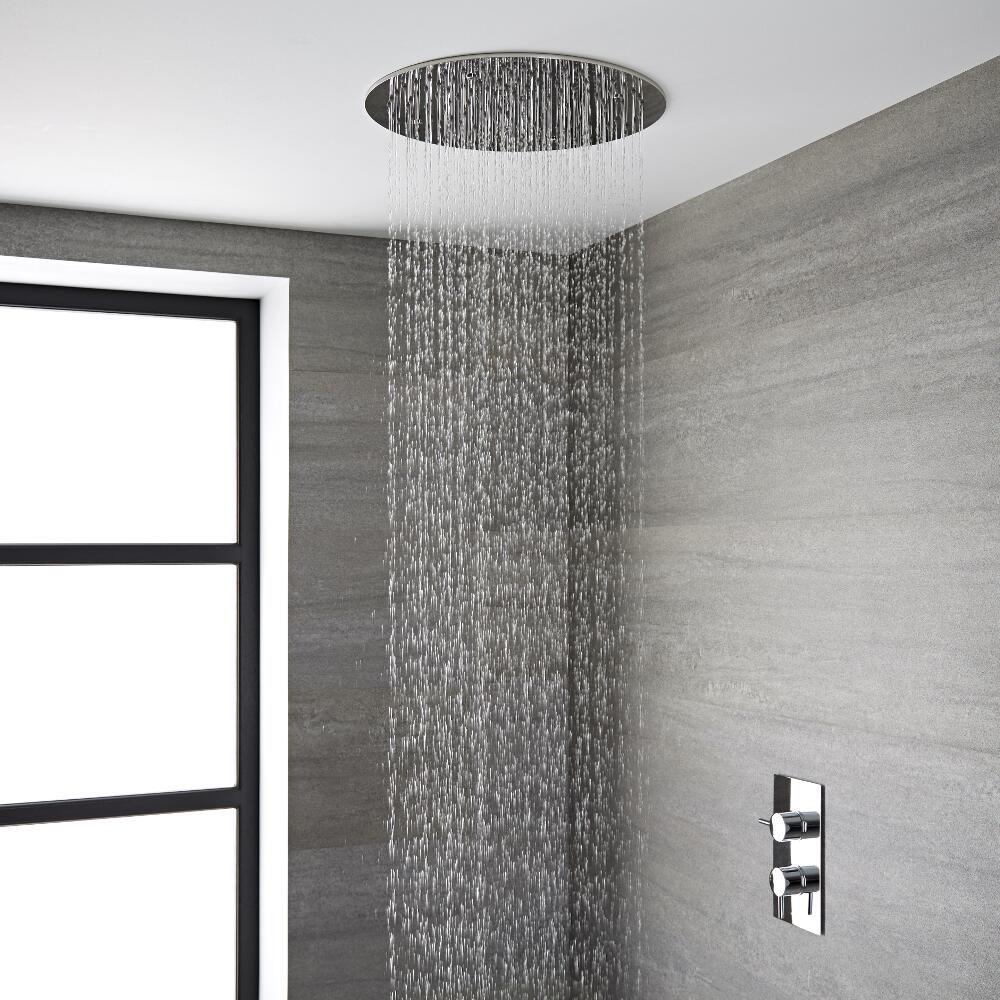 pommeau de douche encastrable plafond 40cm tatham. Black Bedroom Furniture Sets. Home Design Ideas