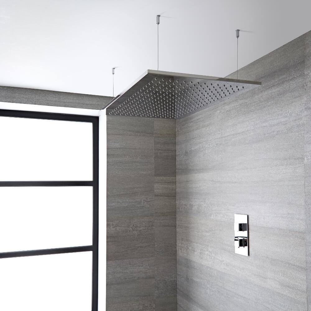 pommeau de douche large 80x50cm tatham. Black Bedroom Furniture Sets. Home Design Ideas