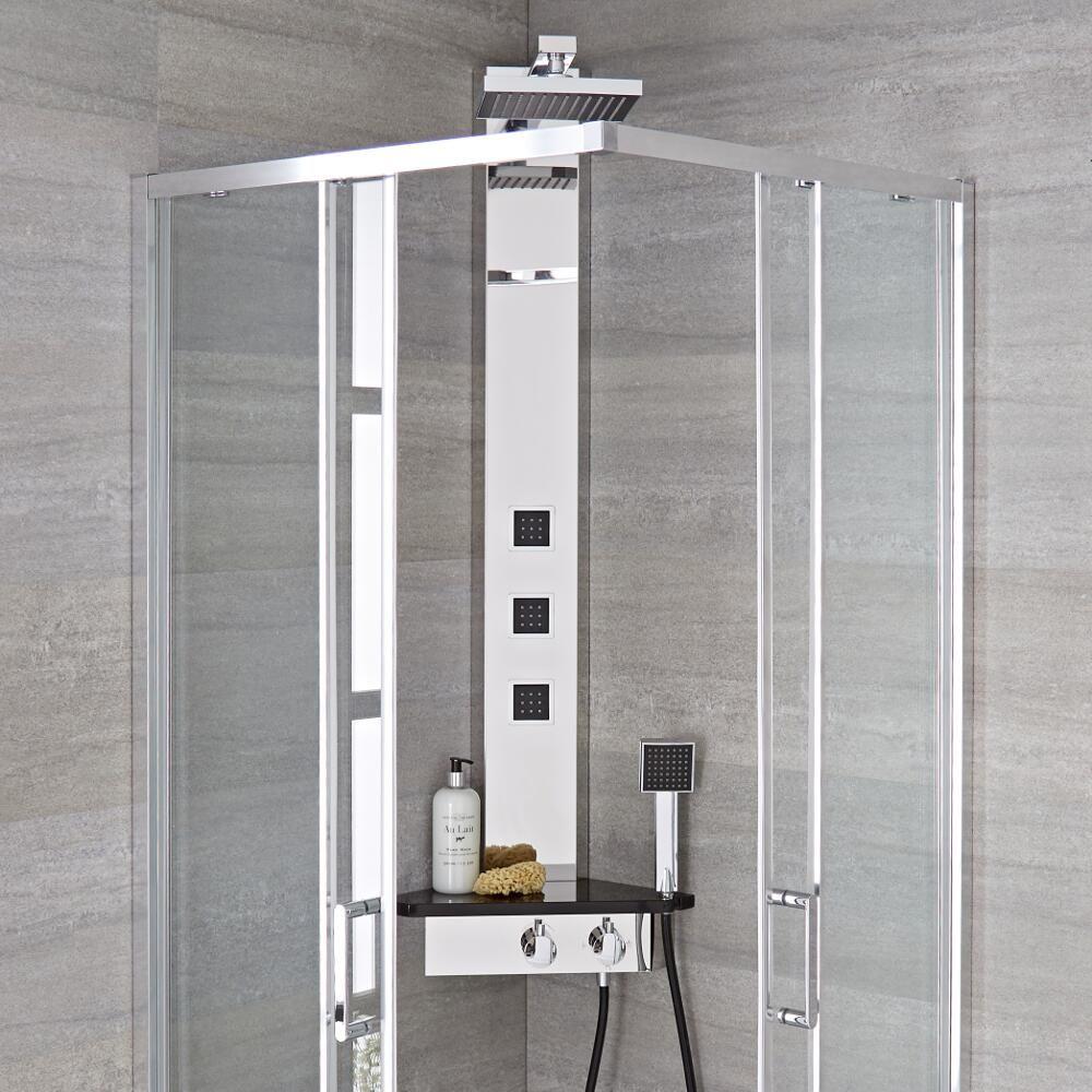 colonne de douche d 39 angle thermostatique alcove. Black Bedroom Furniture Sets. Home Design Ideas