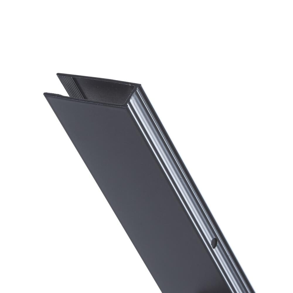 profil alu paroi de douche nox noir. Black Bedroom Furniture Sets. Home Design Ideas