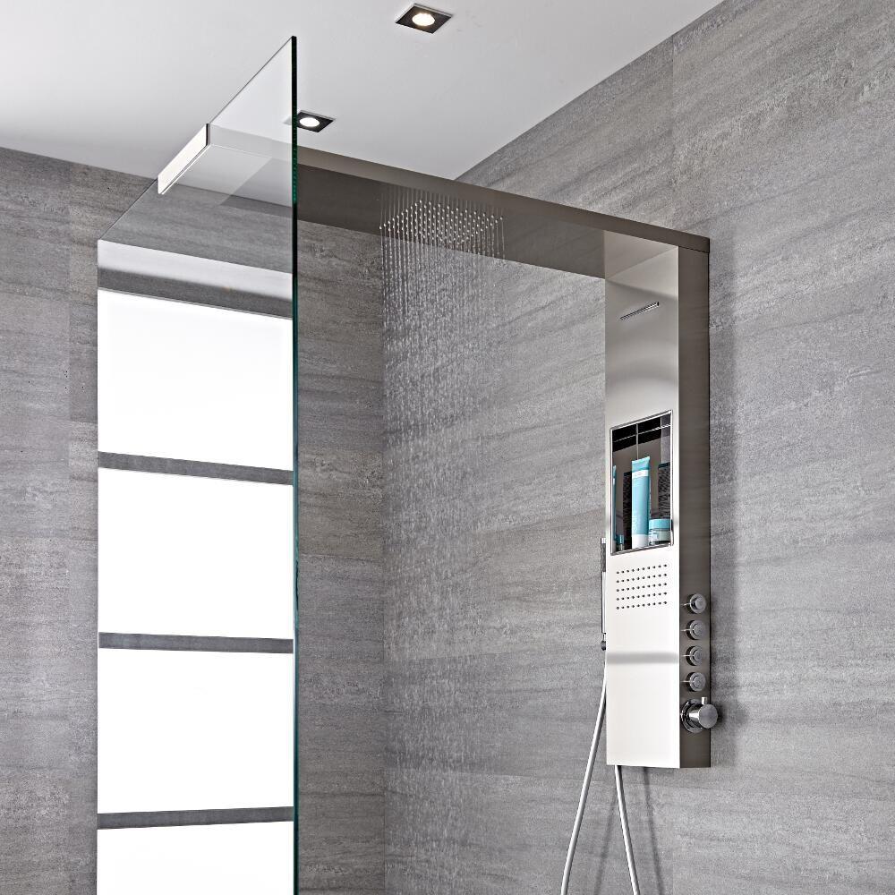 colonne de douche thermostatique pommeau de douche italienne iko 103x100cm. Black Bedroom Furniture Sets. Home Design Ideas