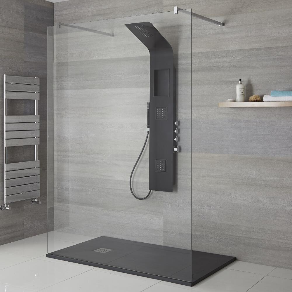 colonne de douche thermostatique noire stamford. Black Bedroom Furniture Sets. Home Design Ideas