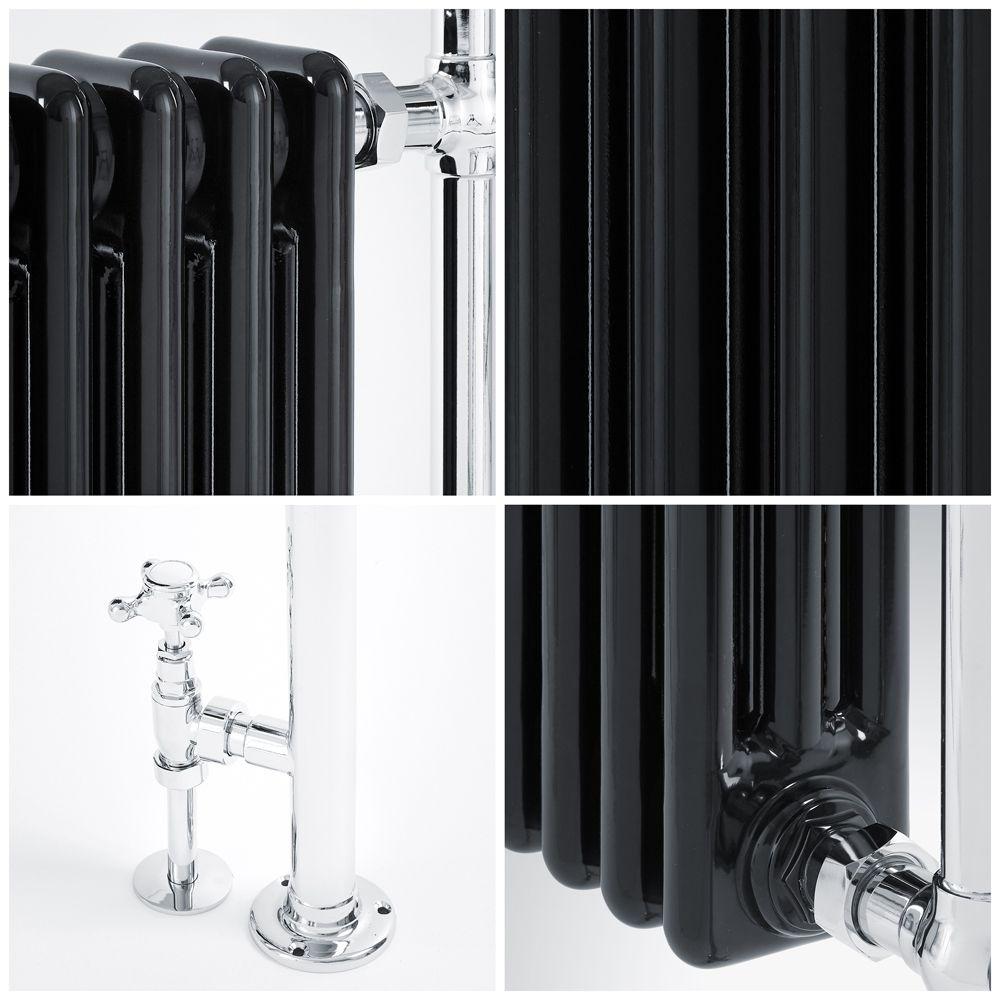s che serviettes lectrique r tro noir chrome avon 93 x. Black Bedroom Furniture Sets. Home Design Ideas