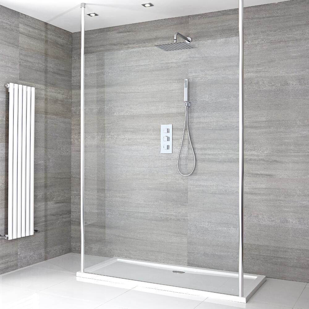 paroi de douche 120cm bras stabilisateurs verticaux receveur 120 x 80cm sera. Black Bedroom Furniture Sets. Home Design Ideas