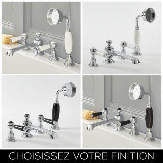 robinet baignoire quatre trous//T/ête r/éservoir c/ôt/é leader quatre ensemble//Kit de douche//tap-B