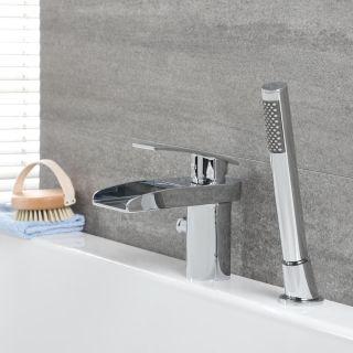 Convient pour Salle bain lavabo et Lavabo Alto Pink Paws Robinet salle de bain,Robinet Cascade avec Chaude et Froide R/églable de Mitigeur lavabo laiton antique