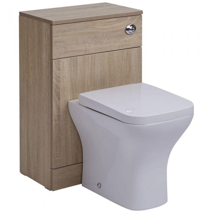 Toilette WC avec meuble 76x50x30cm Classic Oak