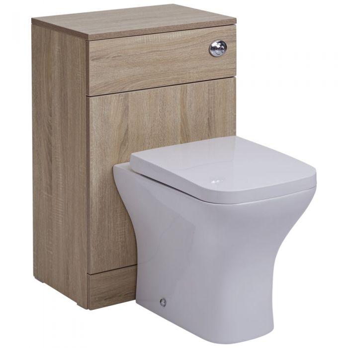 Toilette WC avec meuble 76x50x36cm Classic Oak