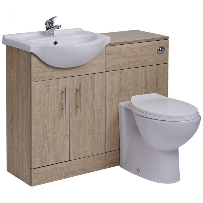 Meuble-lavabo & Toilette WC 51x78x30cm Classic Oak