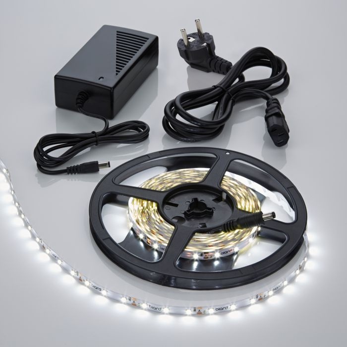 Biard Kit Ruban LED 3528 Blanc froid 5m