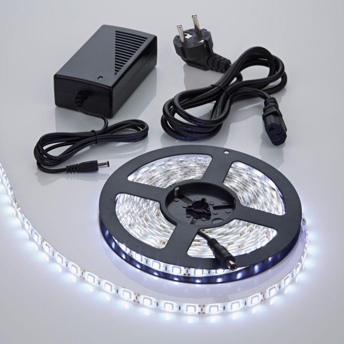 Biard Kit Ruban LED 5050 Blanc froid 5m