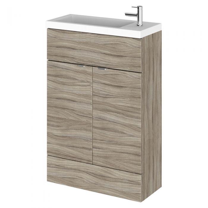 Meuble-lavabo wengé 60 x 86.4 x 35.5cm sable foncé