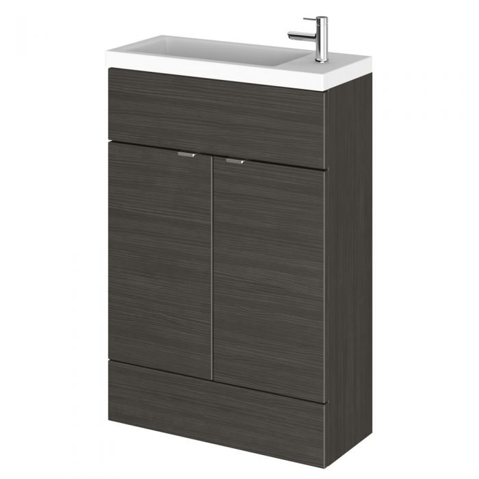 Meuble-lavabo noir wengé 60 x 86.4 x 25.5cm