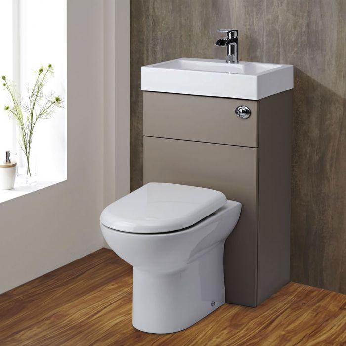 Lave Main WC Gris & Blanc Géométrique
