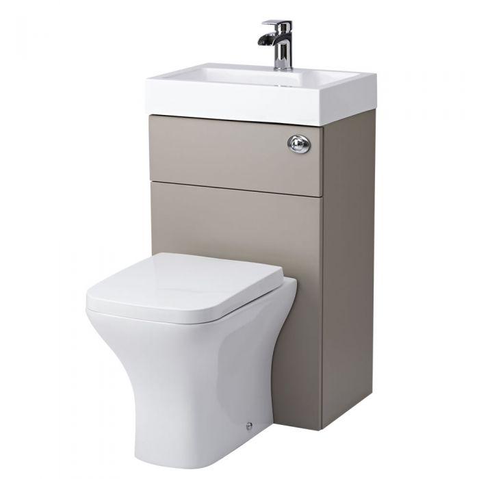 Lave Main WC Gris & Blanc Petit Sanitaire