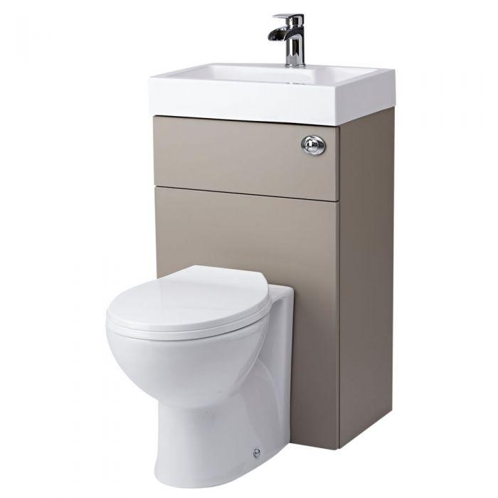 WC avec lave main Gris & Blanc Minimaliste Linton