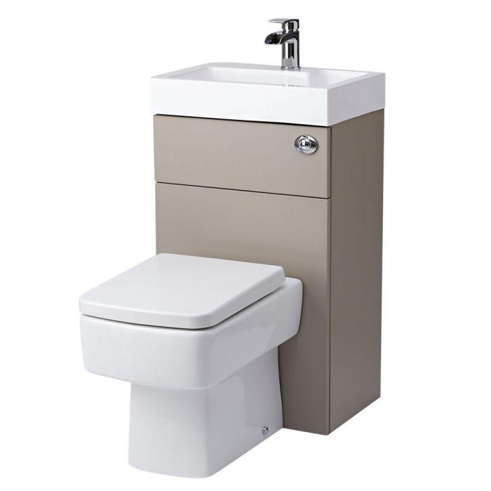 Lave Main WC Cubique Gris & Blanc