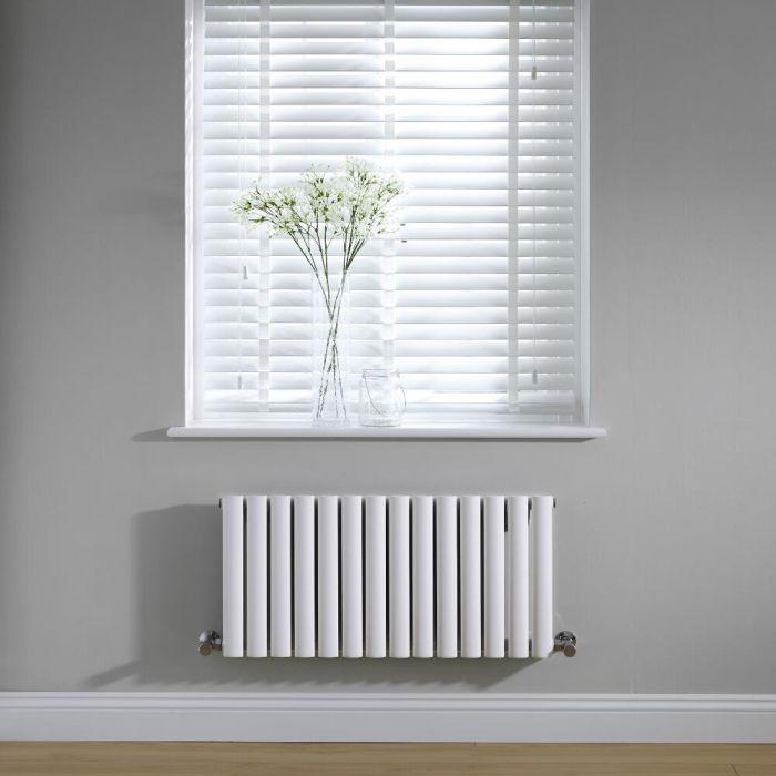 Radiateur Design Horizontal Blanc Vitality 40cm x 83,4cm x 5,6cm 634 Watts