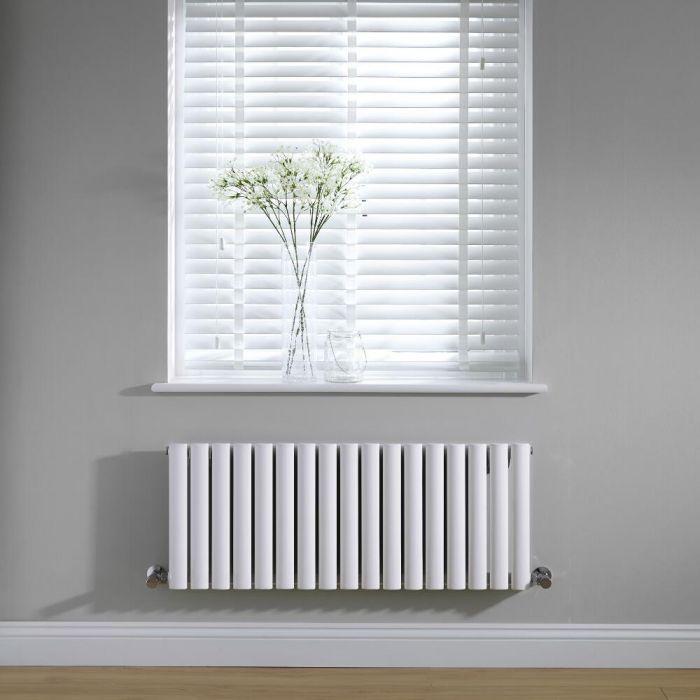 Radiateur Design Horizontal Blanc Vitality 40cm x 100cm x 5,6cm 770 Watts