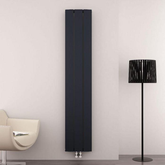 Radiateur Design Vertical Raccordement Central Aluminium Anthracite Aurora 180cm x 28cm x 4,5cm 1152 Watts