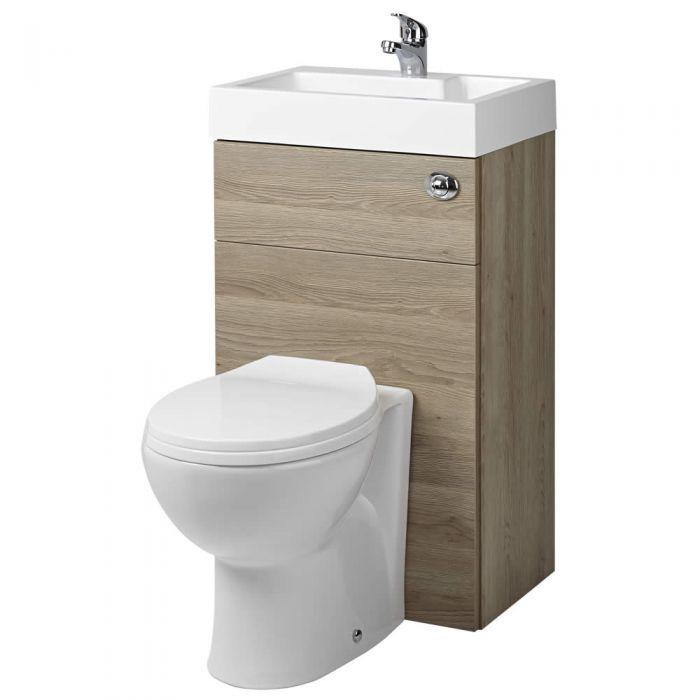 WC Lave Main Minimaliste Chêne