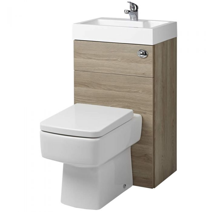 WC avec lave main Chêne