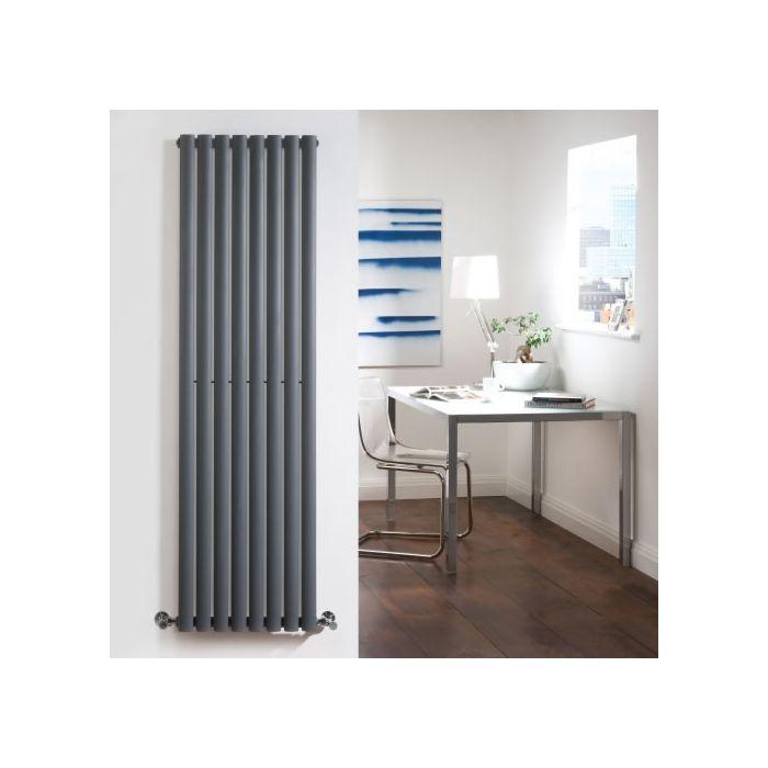Radiateur Design Vertical Anthracite Vitality 160cm x 47,2cm x 5,6cm 1122 Watts