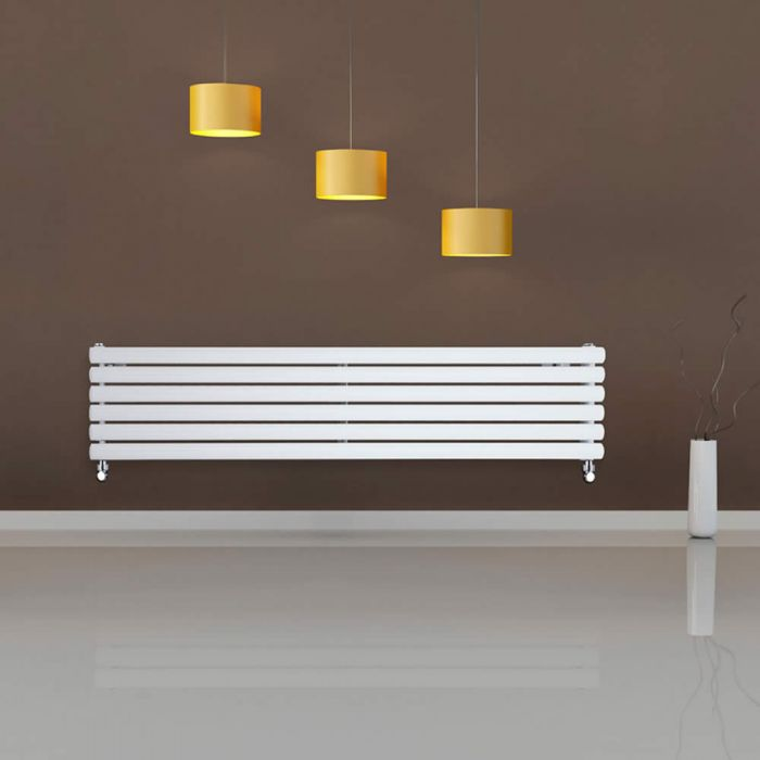 Radiateur Design Horizontal Blanc Vitality 35,4cm x 160cm x 7,8cm 1101 Watts