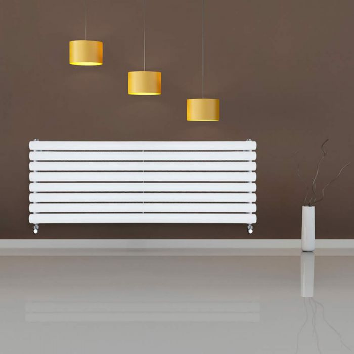 Radiateur Design Horizontal Blanc Vitality 47,2cm x 160cm x 7,8cm 1611 Watts