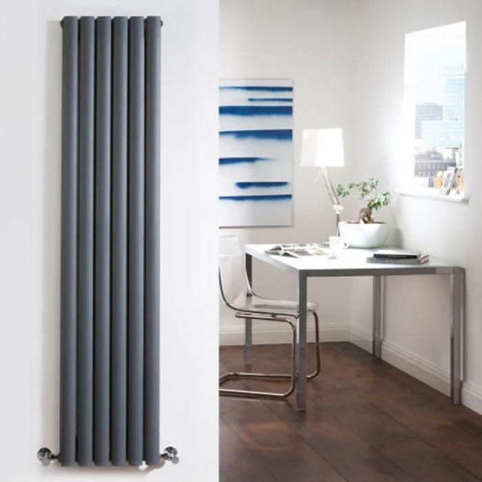 Radiateur Design Vertical Anthracite Vitality 178cm x 35,4cm x 7,8cm 1401 Watts