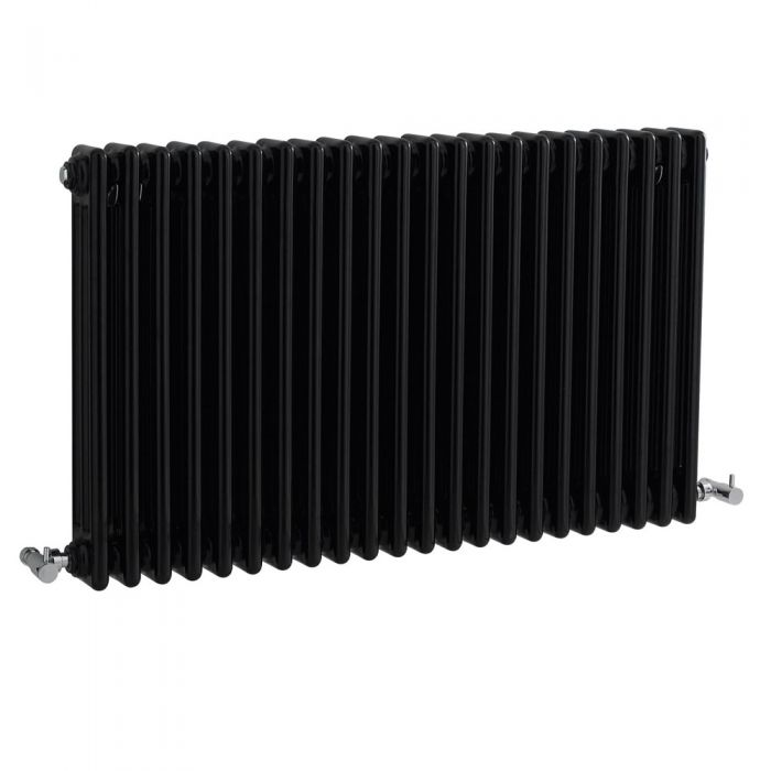 Radiateur Horizontal Style Fonte Noir Windsor 60cm x 101,1cm x 10cm 2217 Watts
