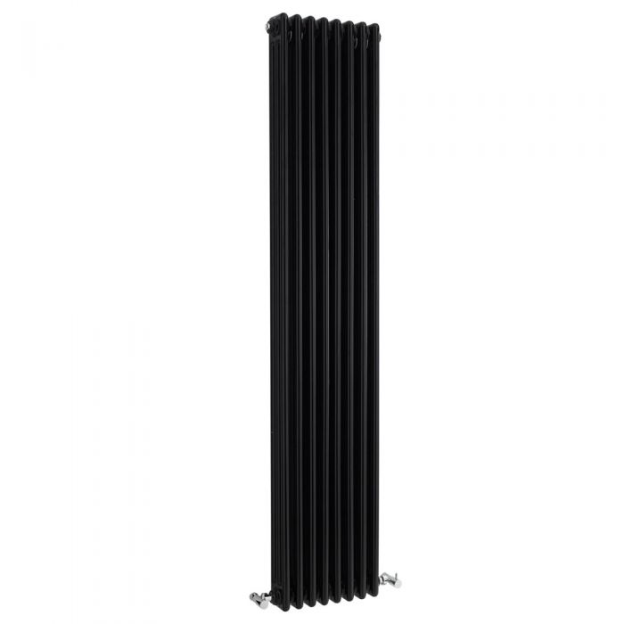 Radiateur Vertical Style Fonte Noir Windsor 180cm x 38,1cm x 10cm 1558 Watts