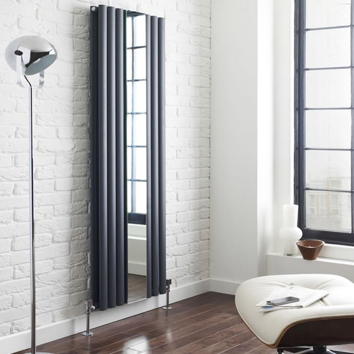 Radiateur Design Vertical Anthracite Vitality 180cm x 49,9cm x 10,5cm 1613 Watts