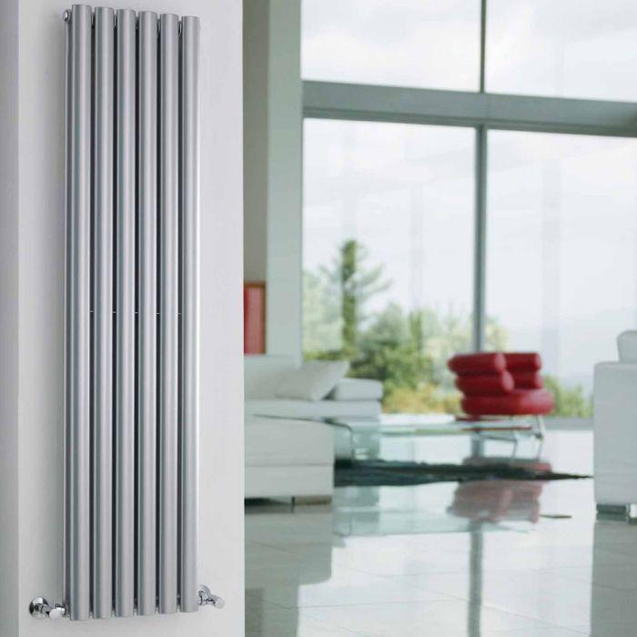 Radiateur Design Vertical Argent Vitality 150cm x 35,4cm x 10,5cm 1380 Watts