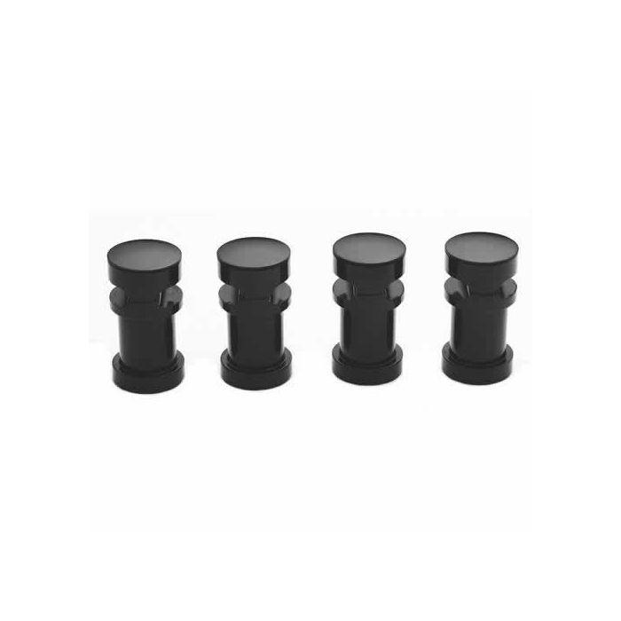 Supports muraux noirs pour fixation horizontale des radiateurs Vitality
