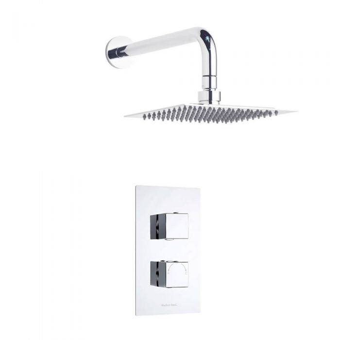 Kit Douche Thermostatique encastrable Pommeau carré 20cm - Square