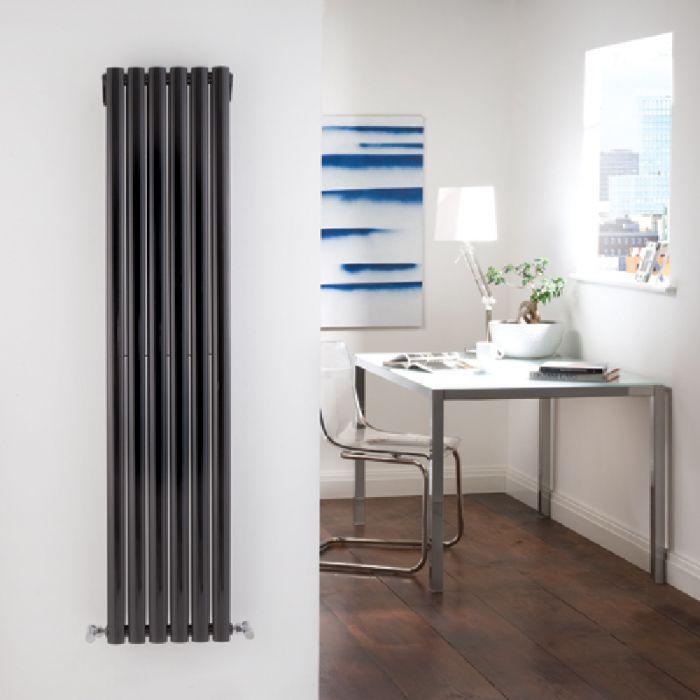 Radiateur Design Vertical Noir Vitality 160cm x 35,4cm x 5,6cm 1228 Watts