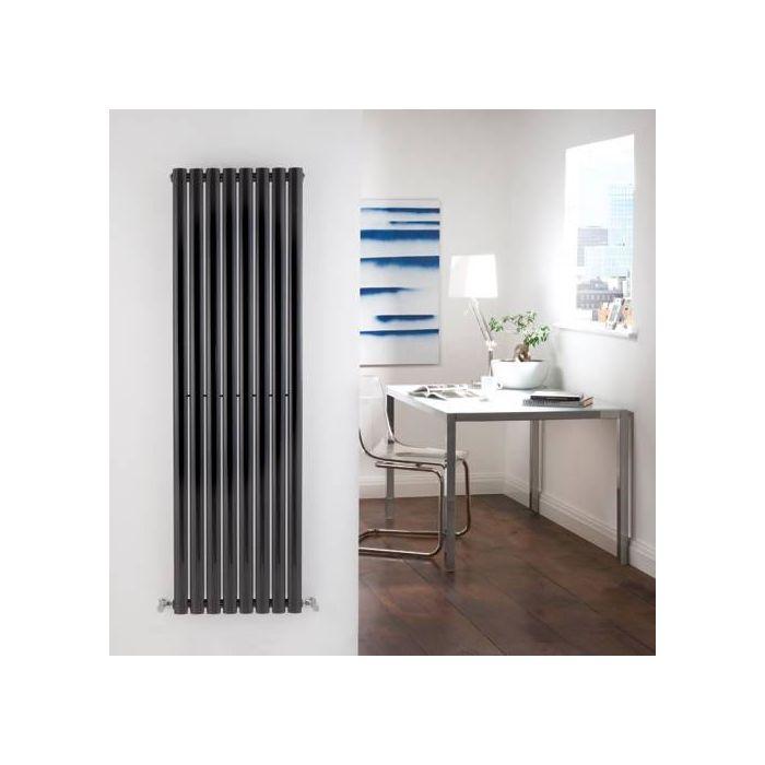 Radiateur Design Vertical Noir Vitality 160cm x 47,2cm x 5,6cm 1122 Watts