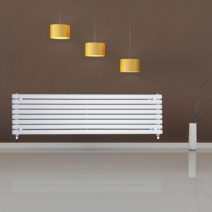 Radiateur Design Horizontal Blanc Vitality 47,2cm x 178cm x 5,6cm 1162 Watts