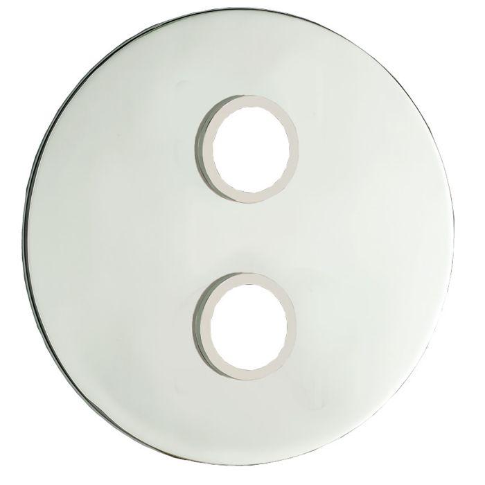 Plaque de finition ronde pour mitigeur de douche encastré