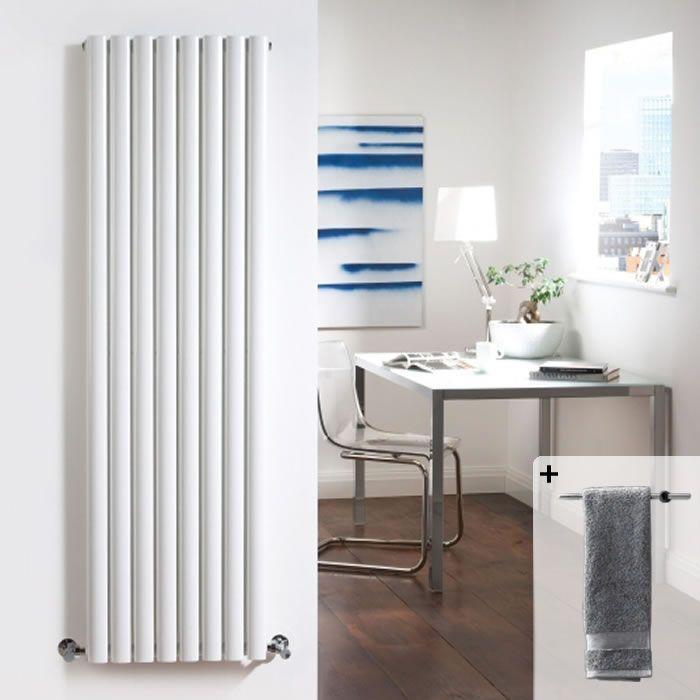 Radiateur Design Vertical Blanc Vitality 178cm x 47,2cm x 10,5cm 1868 Watts