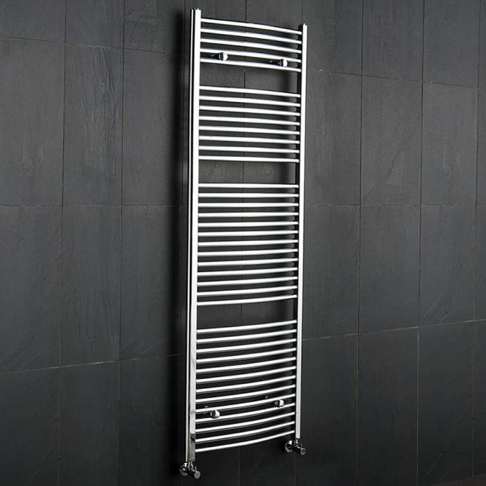 Hudson Reed Sèche-Serviettes Incurvé Chromé Ischia 180cm x 60cm x 5,2cm 827 Watts