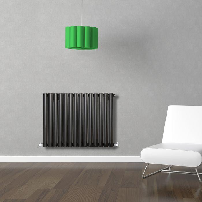 Radiateur Design Horizontal Noir Vitality 63,5cm x 83,4cm x 5,6cm 836 Watts