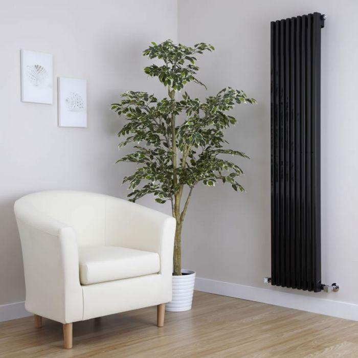 Radiateur Design Vertical Noir Parallel 160cm x 34,2cm x 8,4cm 1053 Watts