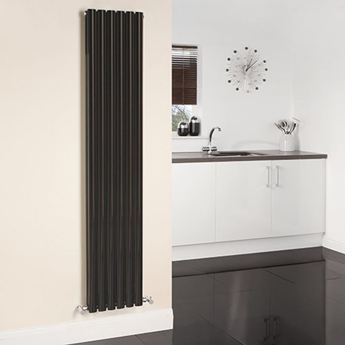 Radiateur Design Vertical Noir Vitality 178cm x 47.2cm x 5,6cm 1190 Watts