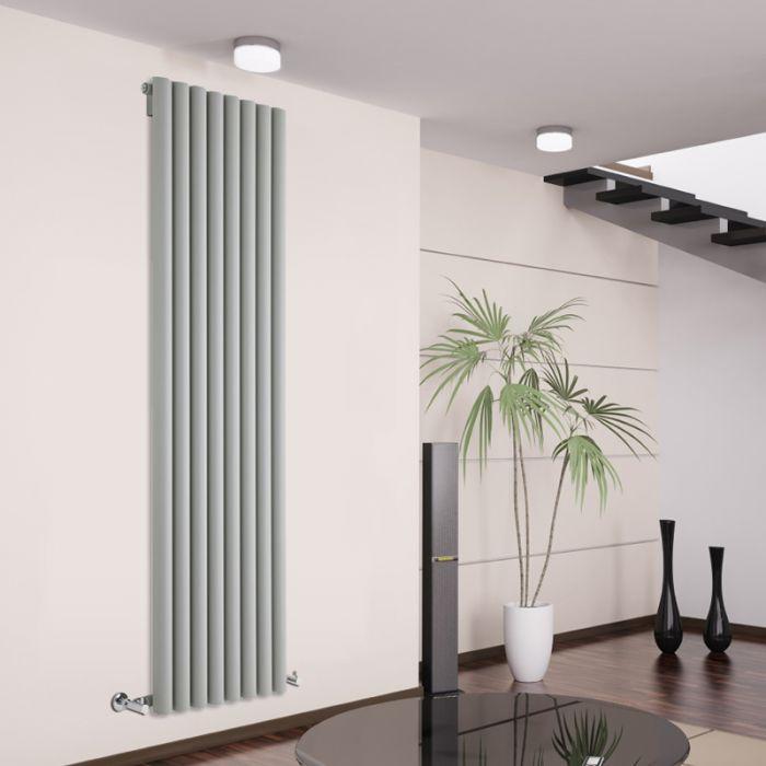 Radiateur Design Vertical Argent Savy 178cm x 47,2cm x 8cm 1391 Watts