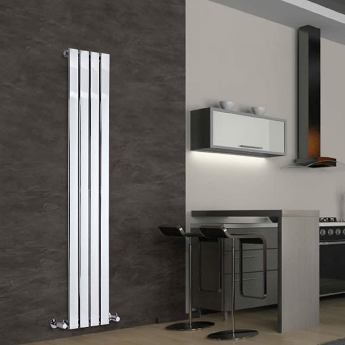 Radiateur Design Vertical Chromé Delta 160cm x 30cm x 5cm 394 Watts