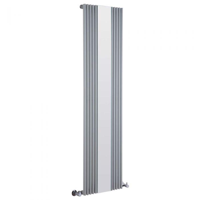 Radiateur Design Vertical avec Miroir Argent Keida 160cm x 42cm x 6,3cm 840 Watts